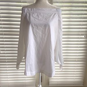 Free People Small White Off Shoulder Tunic Blouse